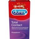 Durex Total Contact Λεπτά Προφυλακτικά με περισσότερο Λιπαντικό 6τμχ