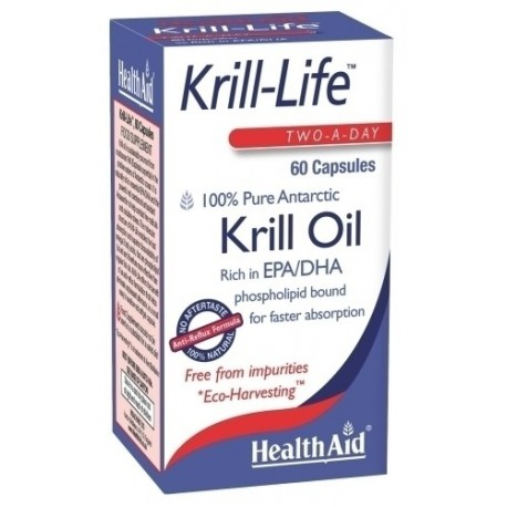 HEALTH AID - Krill Life Krill Oil 500Mg, 60Caps