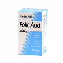 HEALTH AID - Folic Acid 400mcg, 90 Tablets