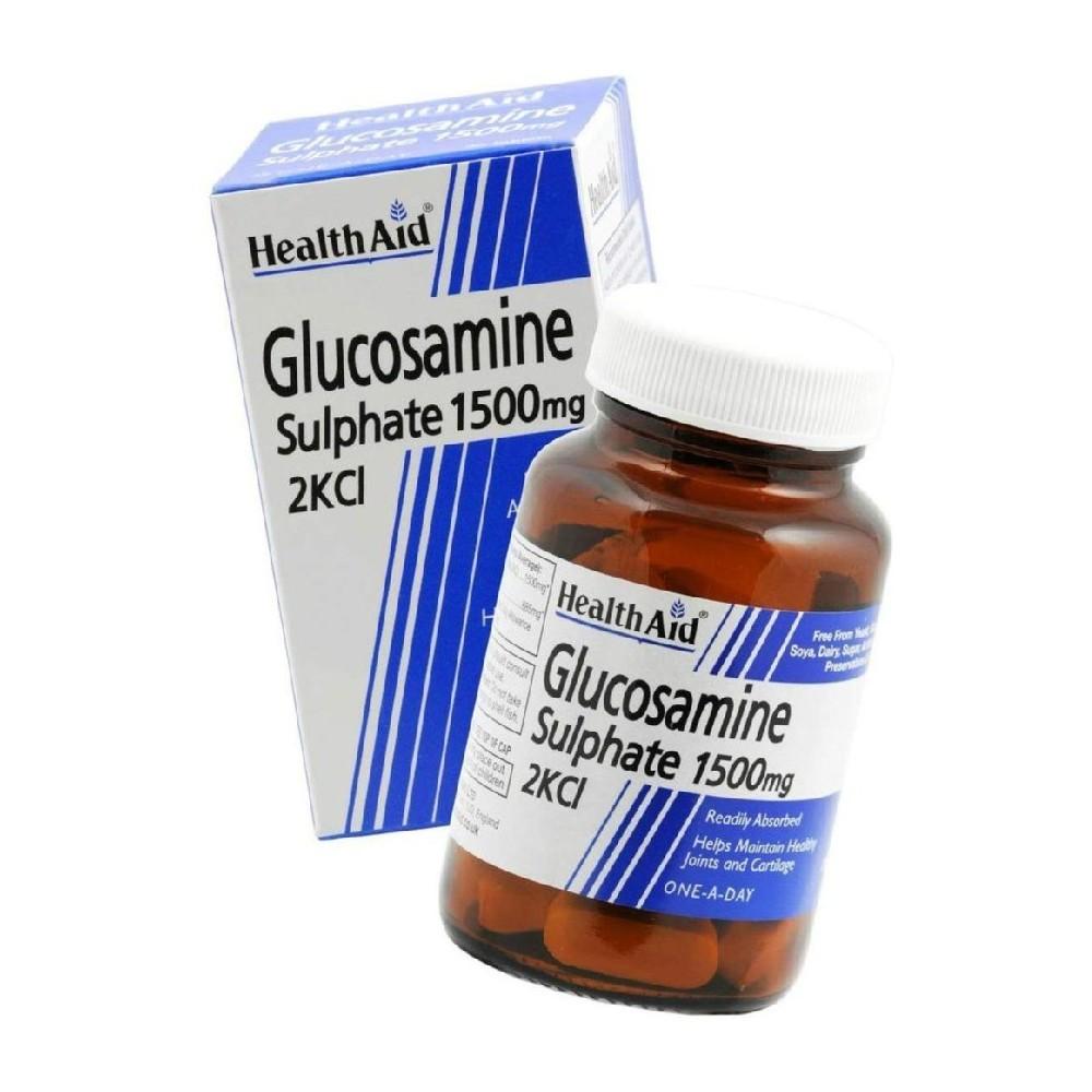 HEALTH AID - GLUCOSAMINE Sulphate 2Kcl 1.5gr, 30 tabs