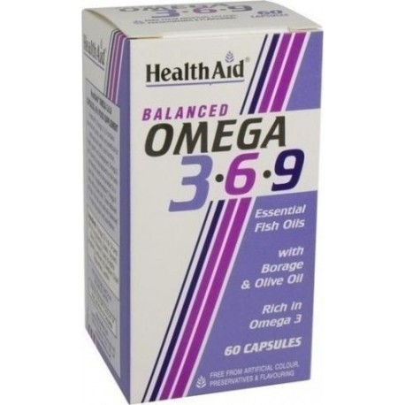 HEALTH AID - OMEGA 3-6-9 1155mg, 60 caps