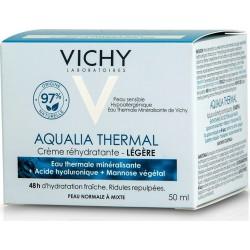 Vichy Aqualia Thermal Light Κρέμα Ημέρας Εντατικής Ενυδάτωσης Ελαφριάς Υφής για όλους τους Τύπους Επιδερμίδας  50ml