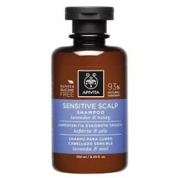 Apivita Sensitive Scalp Σαμπουάν για Ευαίσθητο Τριχωτό με μέλι & λεβάντα 250ml