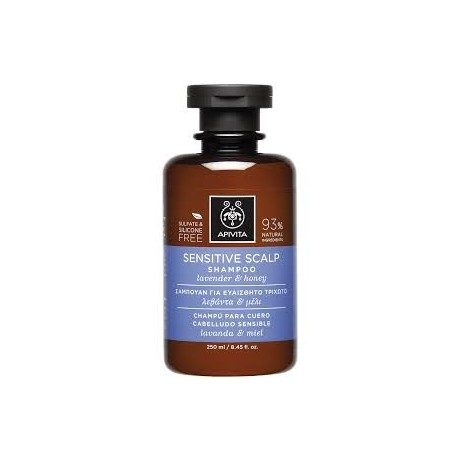 APIVITA - PROPOLINE Shampoo for Sensitive Scalp with honey & lavender 250ml