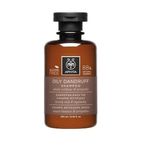 Apivita Oil Dandruff Shampoo Σαμπουάν Κατά της Λιπαρής Πιτυρίδας Λευκή Ιτιά & Πρόπολη 250ml