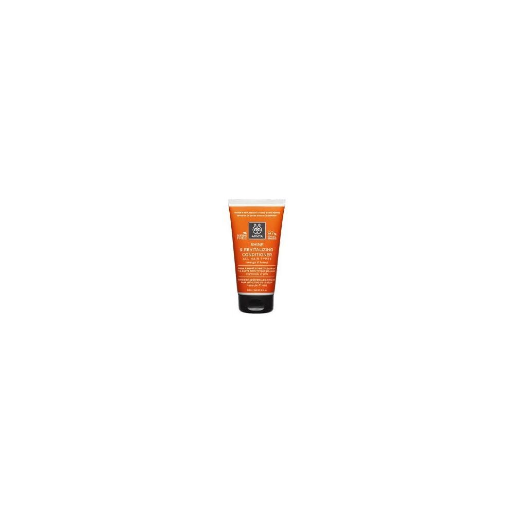 Apivita Κρέμα για Λάμψη και Αναζωογόνηση για Όλους τους Τύπους Μαλλιών με Πορτοκάλι & Μέλι 150ml