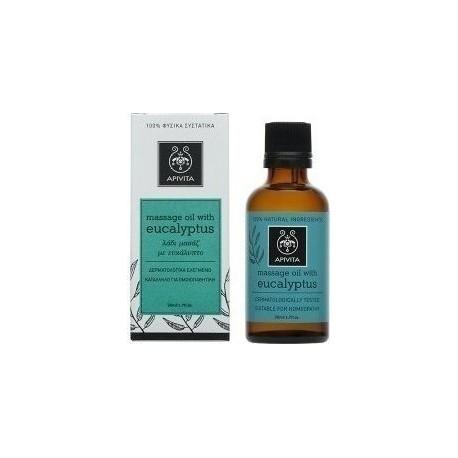 Apivita Massage Oil Eucalyptus (50ml) - Λάδι Μασάζ με Ευκάλυπτο
