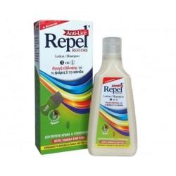 UNI-PHARMA - REPEL Restore Anti-Lice Αντιφθειρική Αγωγή (Λοσιόν, Σαμπουάν, Χτενάκι) - 200gr
