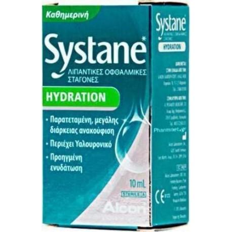 Alcon Systane Hydration Drops Λιπαντικές Οφθαλμικές Σταγόνες 10ml