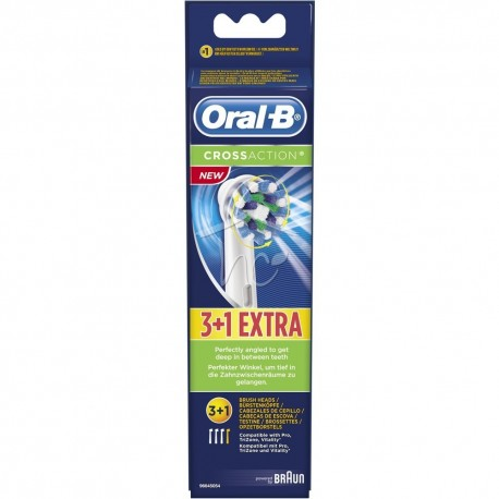 Oral-B CrossAction Ανταλλακτικές Κεφαλές για Ηλεκτρικές Οδοντόβουρτσες 3τμχ +1 ΔΩΡΟ