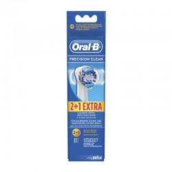 Oral-B Precision Clean Ανταλλακτικές Κεφαλές για Ηλεκτρικές Οδοντόβουρτσες 2τμχ + 1 ΔΩΡΟ