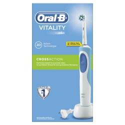 Oral-B Vitality CrossAction Επαναφορτιζόμενη Ηλεκτρική Οδοντόβουρτσα Με 1 Ανταλλακτική Κεφαλή CrossAction