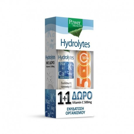 Power Health Hydrolytes + Vitamin C 500mg 2 x 20 αναβράζοντα δισκία