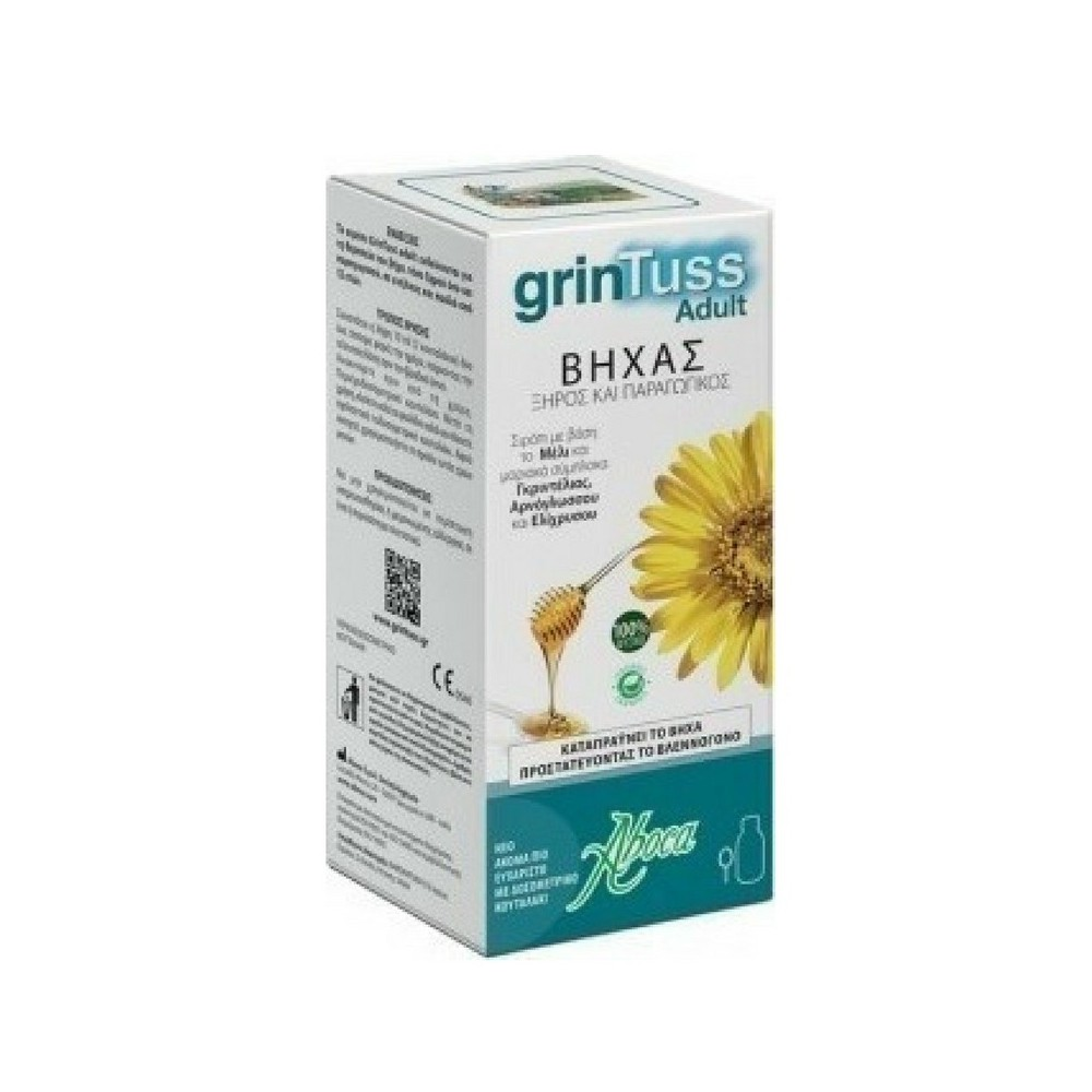 Aboca grinTuss Adult σιρόπι για ενήλικες για ξηρό & παραγωγικό βήχα 180gr