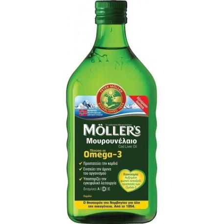 Moller's Μουρουνέλαιο Πλούσιο σε Omega 3 με Γεύση Λεμόνι 250ml