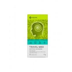 Agan Travel-Med Motion Sickness για την αντιμετώπιση της Ταξιδιωτικής Ναυτίας, 10 chew. tabs