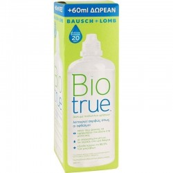 Bausch & Lomb Biotrue Υγρό Φακών Επαφής Πολλαπλών Χρήσεων 300ml & ΔΩΡΟ 60ml