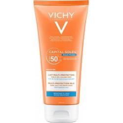 Vichy Capital Soleil Beach Protection Multi-Protection Milk SFP50+ Αντιηλιακό Γαλάκτωμα Πολλαπλής Προστασίας 200ml