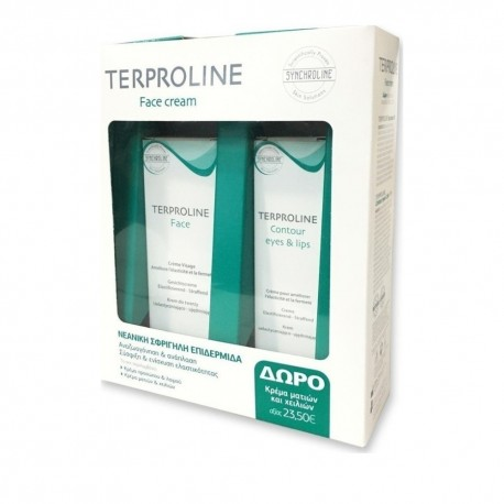Synchroline PROMO Terproline Face Cream 50ml & Terproline Contour Eyes & lips 15ml