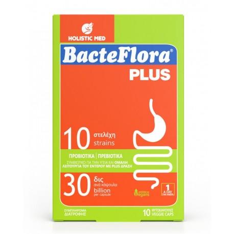 Bacteflora Plus συνδυασμός Προβιοτικών & Πρεβιοτικών για την Εντερική Ισορροπία 10caps