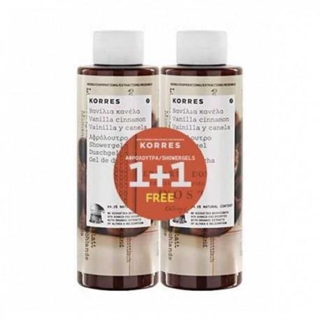 KORRES - BODY Shower gel in different smells, 250ml - ΒΑΝΙΛΙΑ-ΚΑΝΕΛΑ