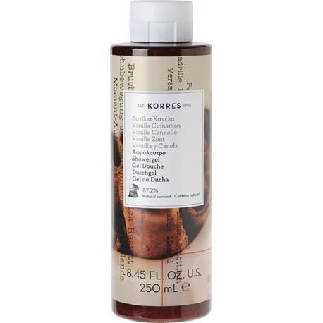 Korres Showergel Αφρόλουτρο Βανίλια & Κανέλα 250ml
