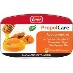 Lanes PropolCare με Πρόπονη και Βιταμίνη C γεύση Μέλι & Λεμόνι 54g