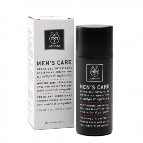 APIVITA - Men's Moisturizing Cream-Gel with cedar & propolis