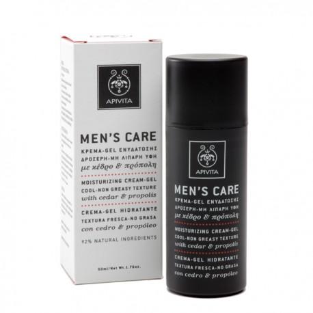 APIVITA - Men's Moisturizing Cream-Gel with cedar & propolis
