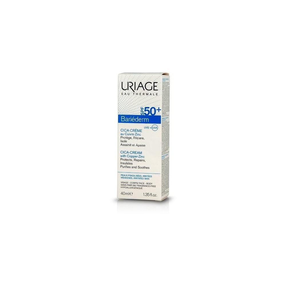 Uriage Bariederm Cica-Cream with Copper-Zinc Spf50+ 40ml