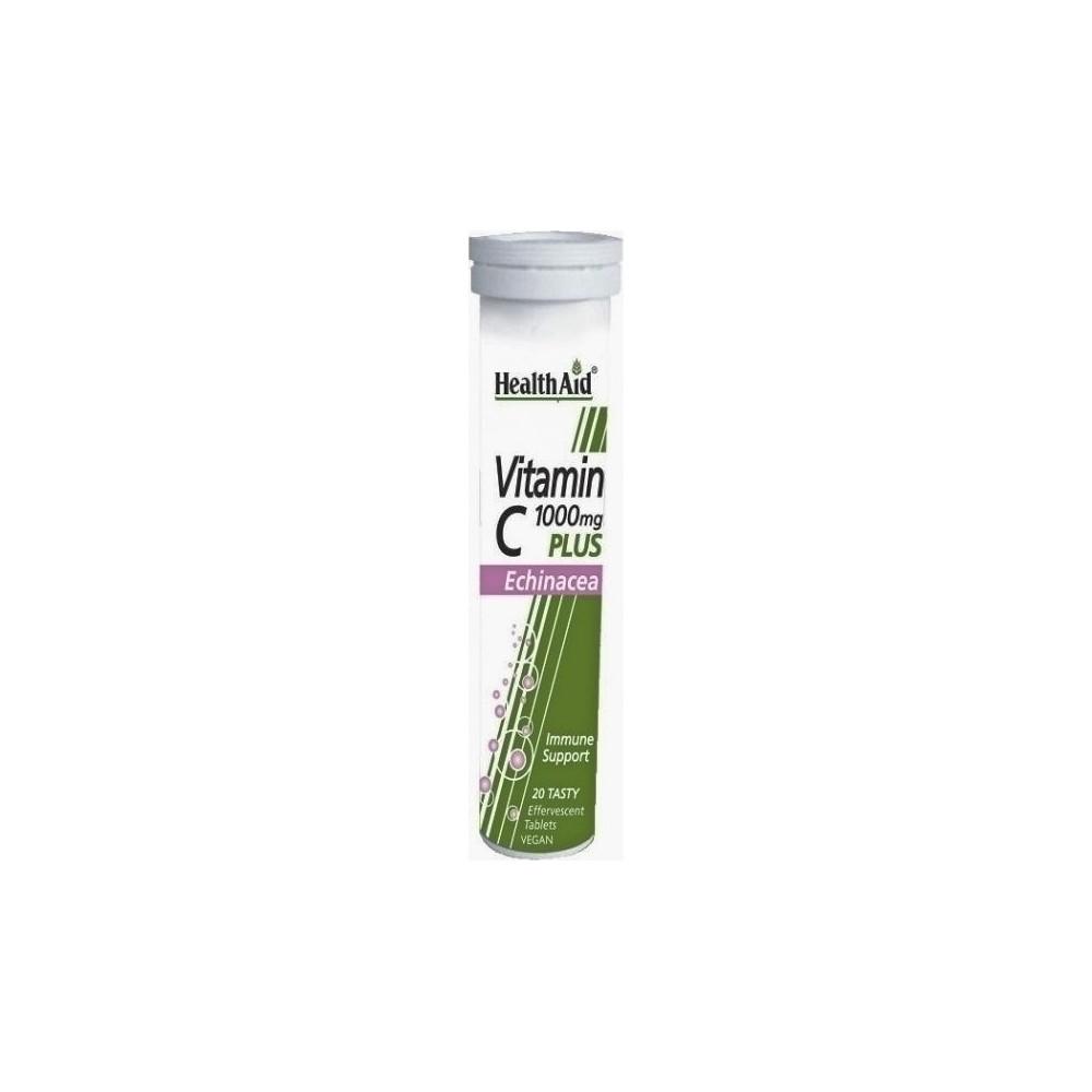 Health Aid Vitamin C 1000mg Plus Echinacea 20 αναβράζοντα δισκία με Γεύση Λεμόνι