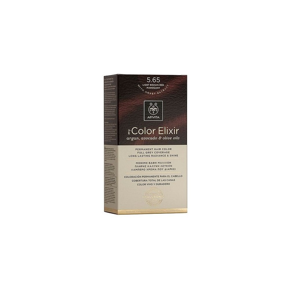 Apivita My Color Elixir Μόνιμη Βαφή Μαλλιών  Καστανό Ανοιχτό Κόκκινο Μαονί 5.65  1τμχ