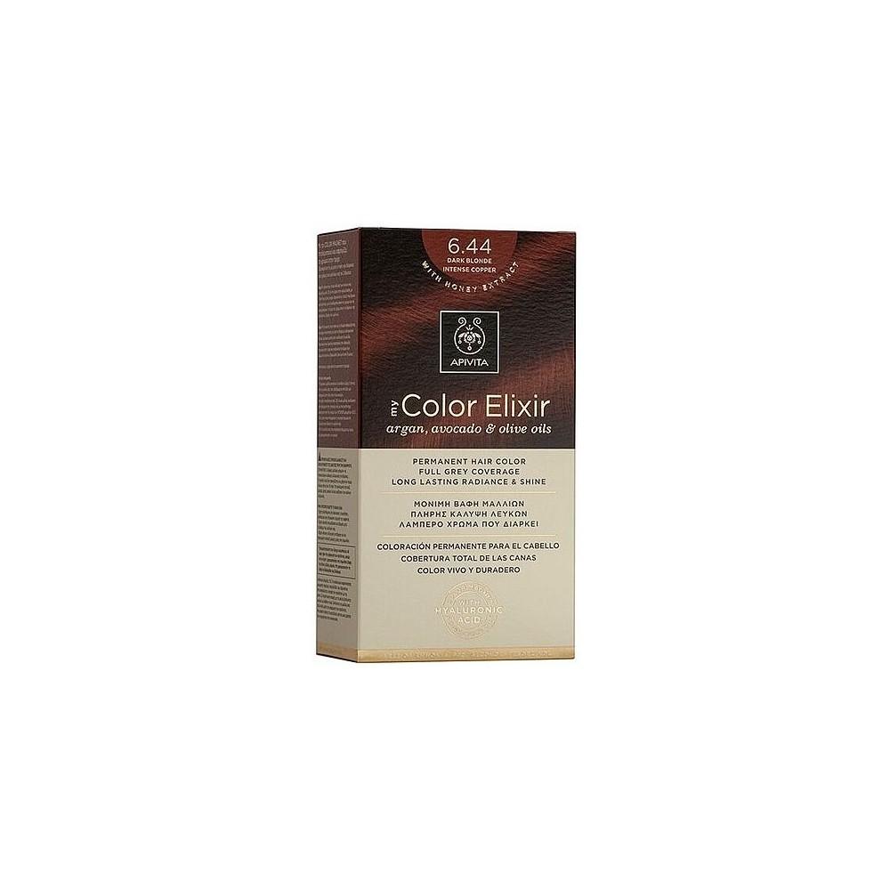 Apivita My Color Elixir Μόνιμη Βαφή Μαλλιών  Ξανθό Σκούρο Έντονο Χάλκινο 6.44  1τμχ