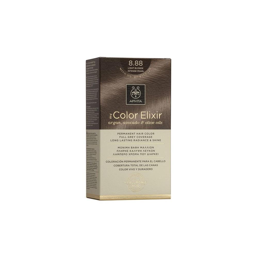 Apivita My Color Elixir Μόνιμη Βαφή Μαλλιών  Ξανθό Ανοιχτό Έντονο Περλέ 8.88  1τμχ