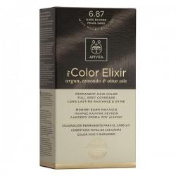 Apivita My Color Elixir Μόνιμη Βαφή Μαλλιών No 6.87 Ξανθό Σκούρο Περλέ Μπεζ