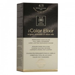 Apivita My Color Elixir Μόνιμη Βαφή Μαλλιών No 4.11 Καστανό Έντονο Σαντρέ