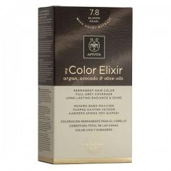 Apivita My Color Elixir Μόνιμη Βαφή Μαλλιών No7.8 Ξανθό Περλέ