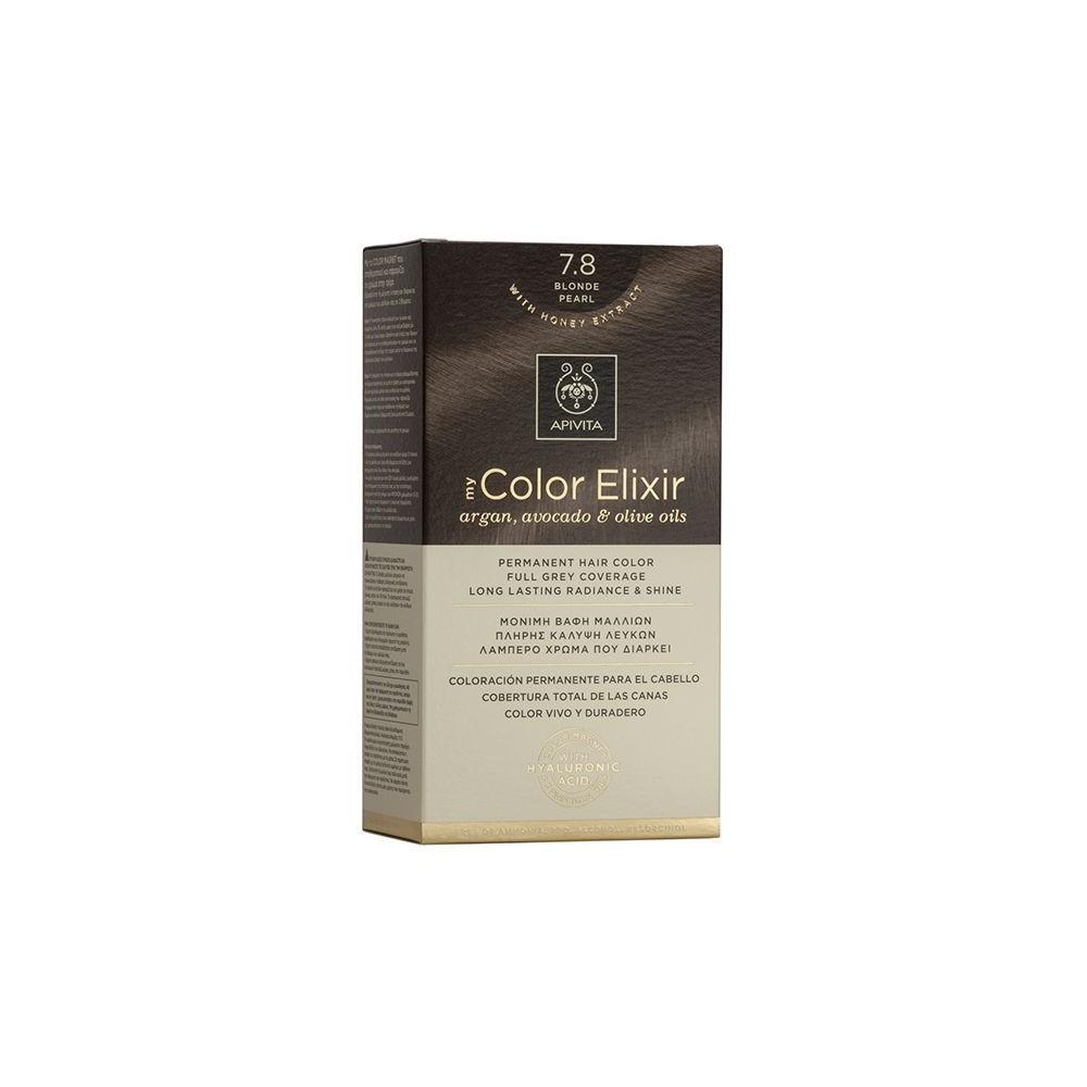 Apivita My Color Elixir Μόνιμη Βαφή Μαλλιών  Ξανθό Περλέ 7.8  1τμχ