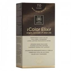 Apivita My Color Elixir Μόνιμη Βαφή Μαλλιών No 7.0 Ξανθό