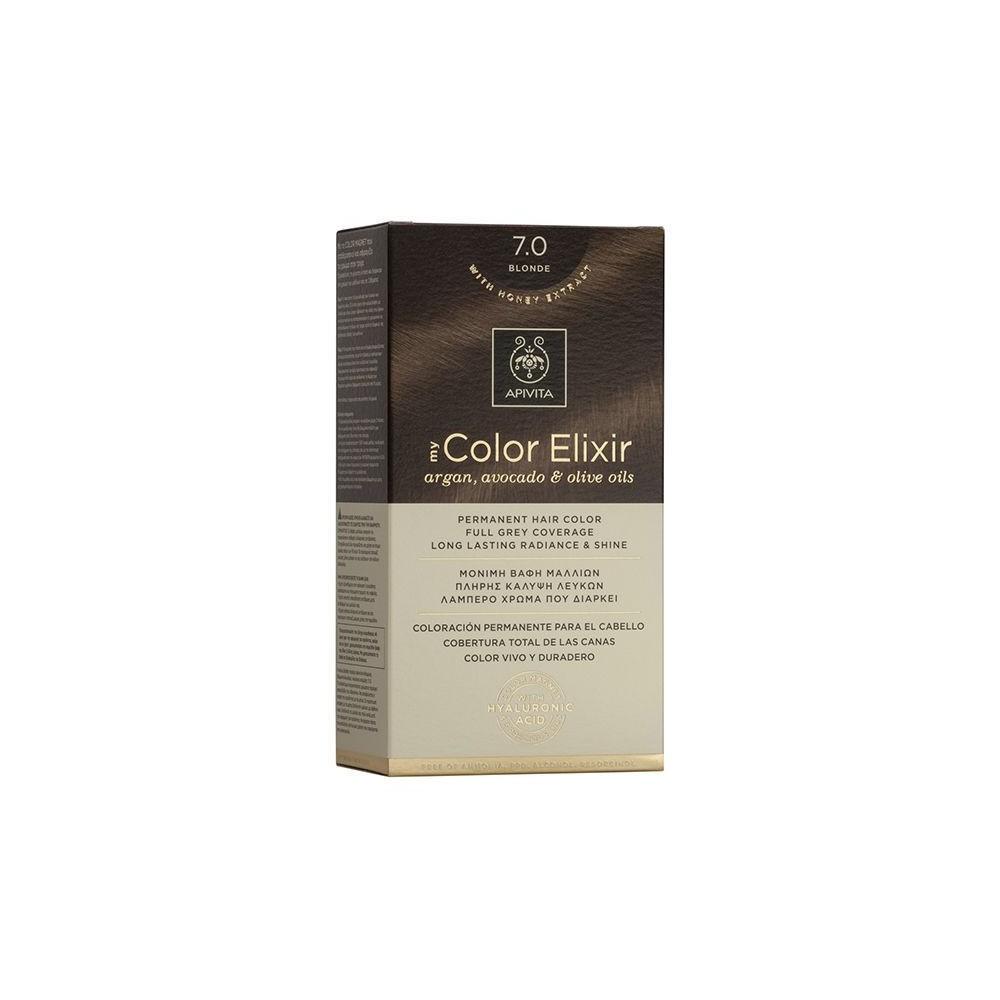 Apivita My Color Elixir Μόνιμη Βαφή Μαλλιών  Ξανθό 7.0  1τμχ