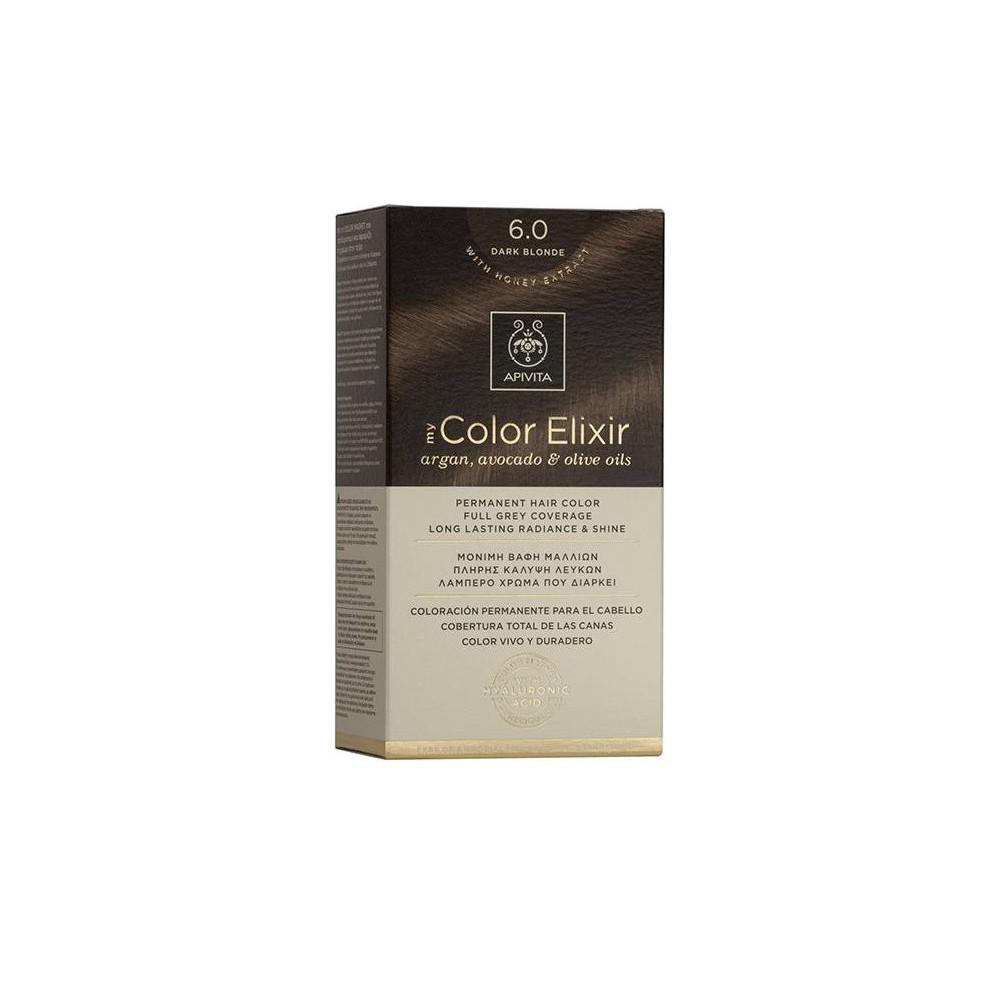 Apivita My Color Elixir Μόνιμη Βαφή Μαλλιών  Ξανθό Σκούρο 6.0  1τμχ