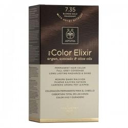 Apivita My Color Elixir Μόνιμη Βαφή Μαλλιών No 7.35 Ξανθό Μελί Μαονί