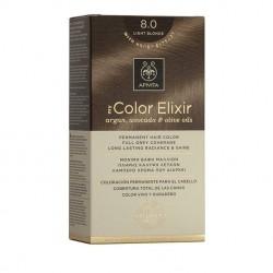 Apivita My Color Elixir Μόνιμη Βαφή Μαλλιών No 8.0 Ξανθό Ανοιχτό