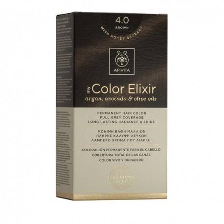 Apivita My Color Elixir Μόνιμη Βαφή Μαλλιών  Καστανό 4.0  1τμχ