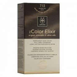 Apivita My Color Elixir Μόνιμη Βαφή Μαλλιών No 7.13 Ξανθό Σαντρέ Μελί