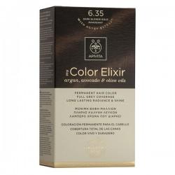 Apivita My Color Elixir Μόνιμη Βαφή Μαλλιών  Ξανθό Σκούρο Μελί Μαονί 6.35  1τμχ