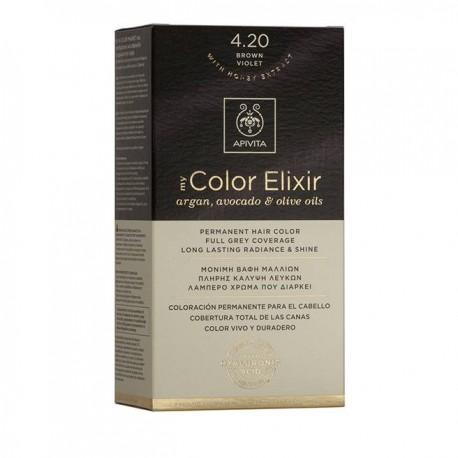 Apivita My Color Elixir Μόνιμη Βαφή Μαλλιών  Καστανό Βιολετί 4.20  1τμχ