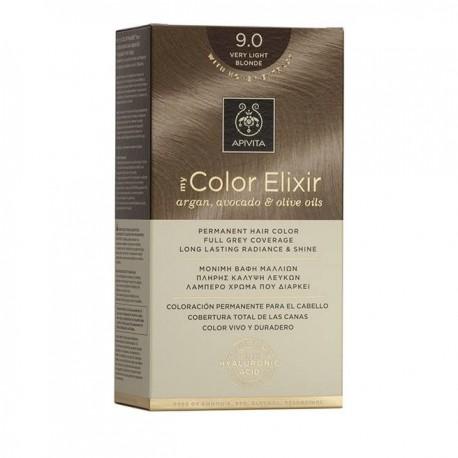 Apivita My Color Elixir Μόνιμη Βαφή Μαλλιών  Ξανθό Πολύ Ανοιχτό 9.0  1τμχ