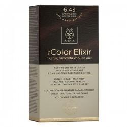 Apivita My Color Elixir Μόνιμη Βαφή Μαλλιών  Ξανθό Σκούρο Χάλκινο Μελί 6.43  1τμχ