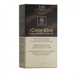 Apivita My Color Elixir Μόνιμη Βαφή Μαλλιών  Καστανό Ανοιχτό Περλέ Μαονί 5.85  1τμχ
